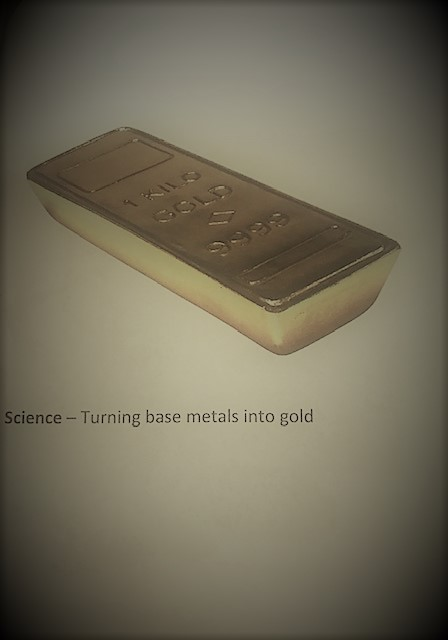 4- Gold bar: Historically, alchemist believed they could make gold