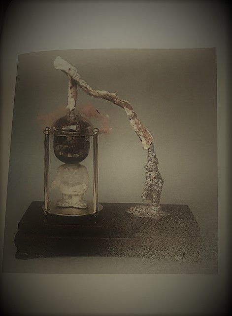 """5- Alchemy apparatus, made to, under the right conditions, """"coalesce a metallic sludge out of simulated thought processes and various bit of decomposing matter."""""""