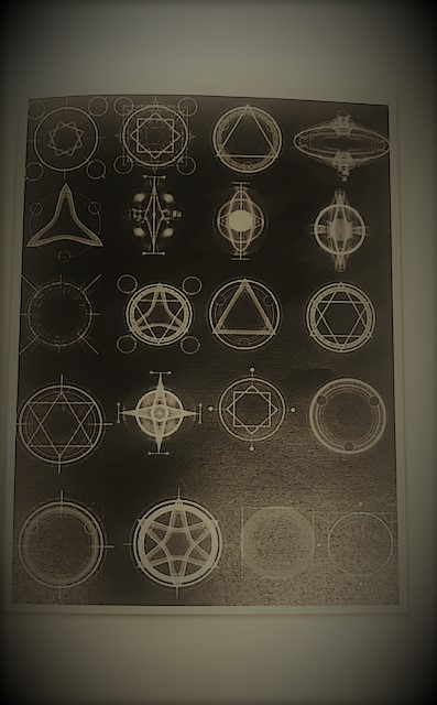 6- photo of various shapes which represent alchemy and the alchemical symbols