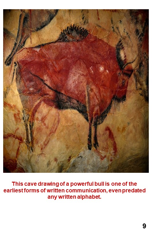 11. Early Cave drawing of a bull, an animal that has its own kind of power