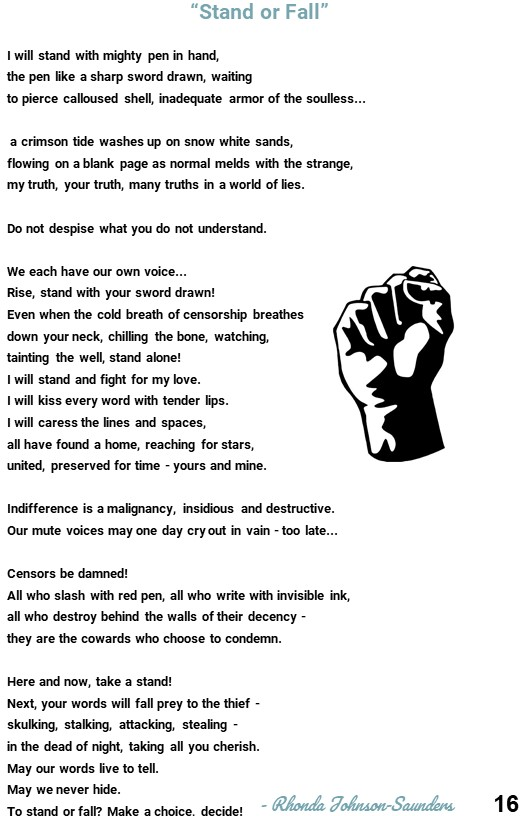 18. Poem about censorship and the power of the pen