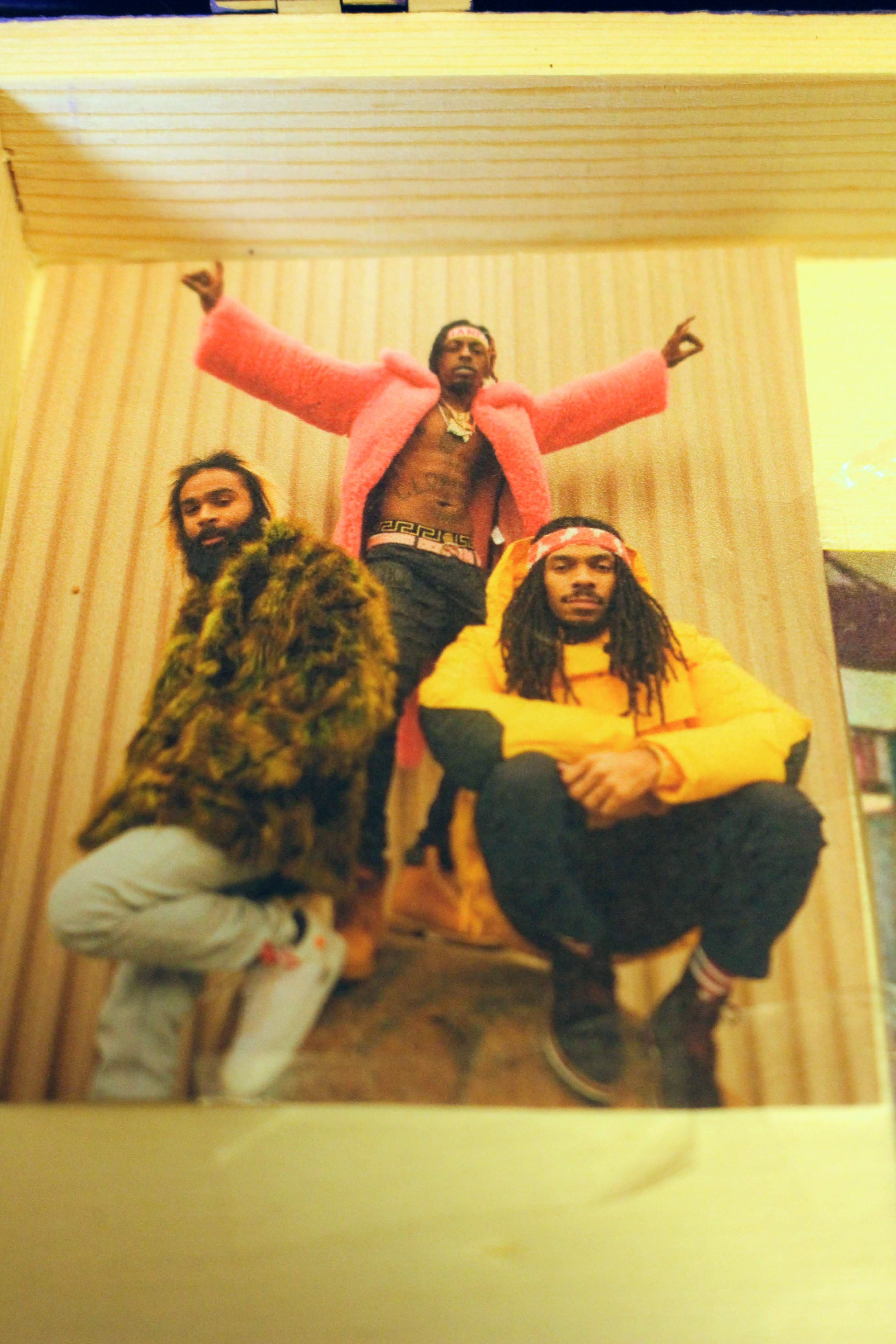 This image is of Flatbush Zombies, my favorite rap group. I included them in my teaching module and in the kit to show how other cultures, aside from Black-American culture can influence rap music. Particularly Caribbean culture where both the founders of hip hop and the Flatbush Zombies derive from