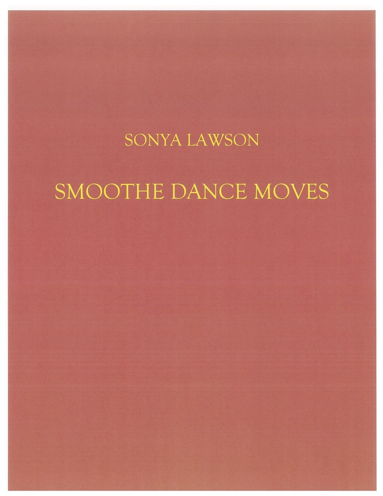 The cover page of my chapbook has the author's name an introduction to the dances.