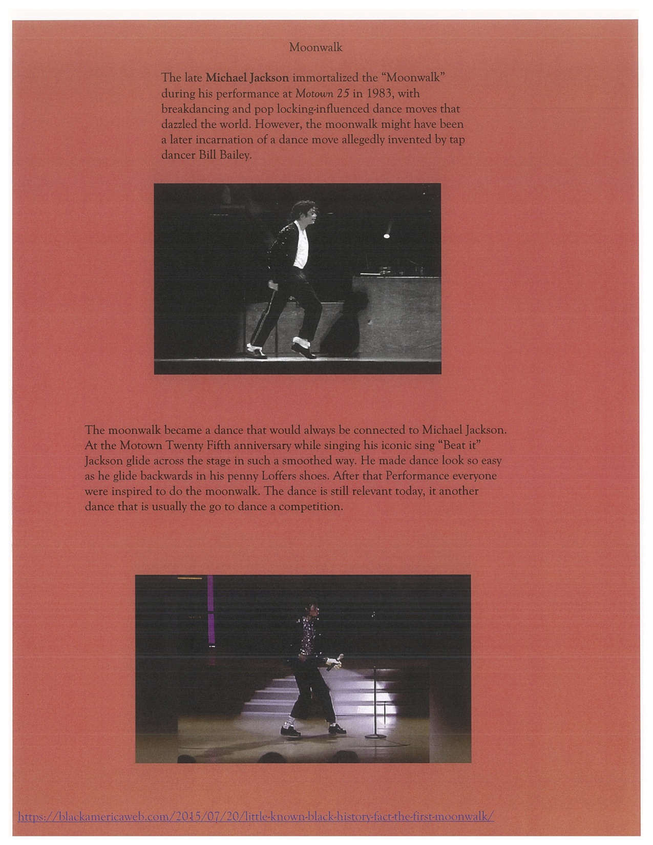 Page 11. The Moonwalk displayed at Motown 25th Anniversary.