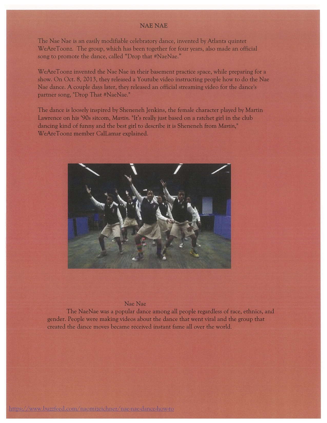 Page 13. The Nae Nae performed by the kids of Ron Clark Academy.