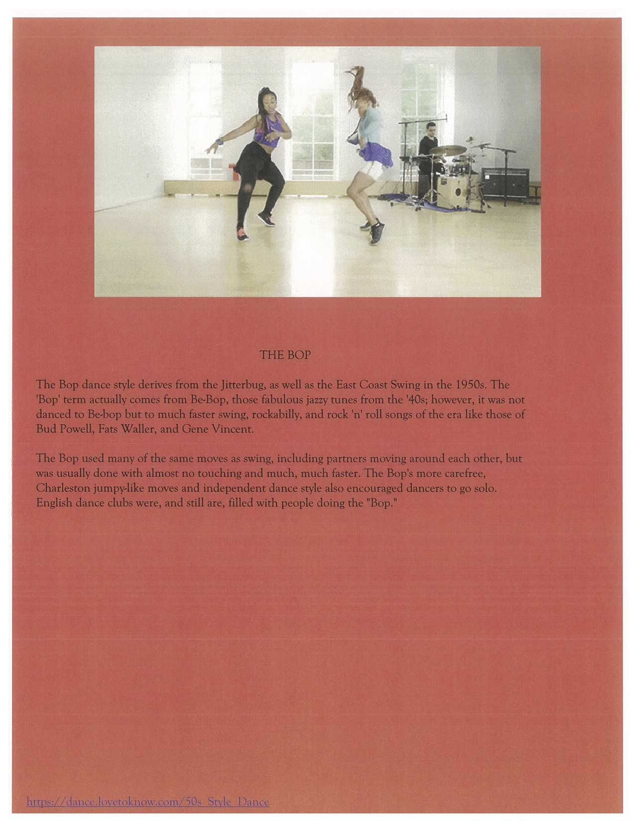 Page 9. The Bop Dance.